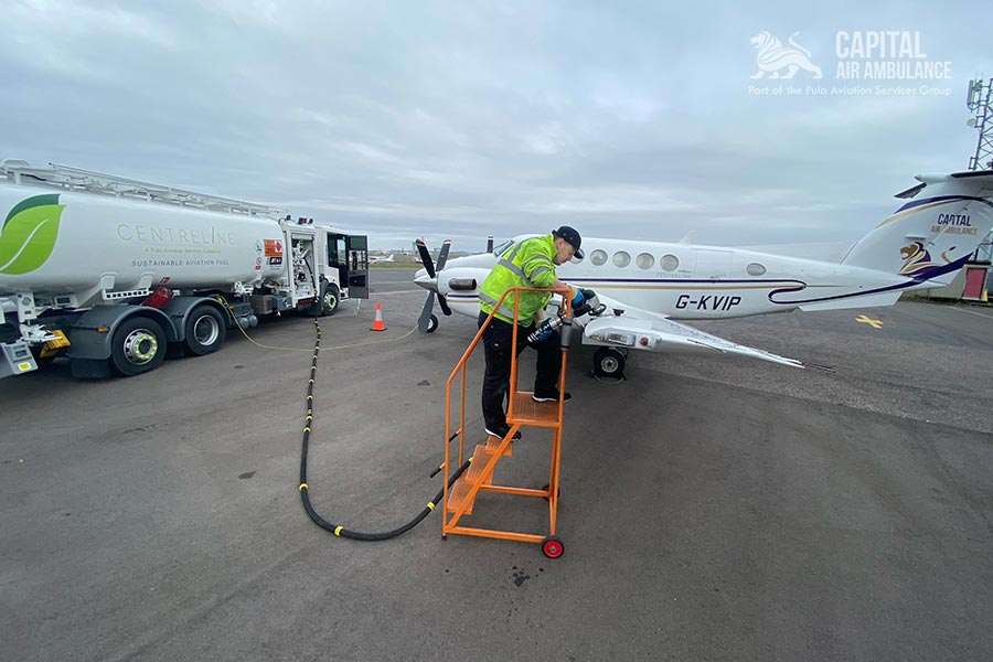 Capital Air Ambulance selects Sustainable Aviation Fuel for its latest medical repatriation flight
